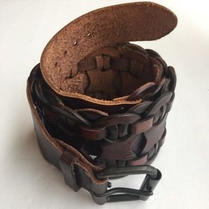BOHO BROWN UNIQUE CHUNKY BELT SIZE SMALL